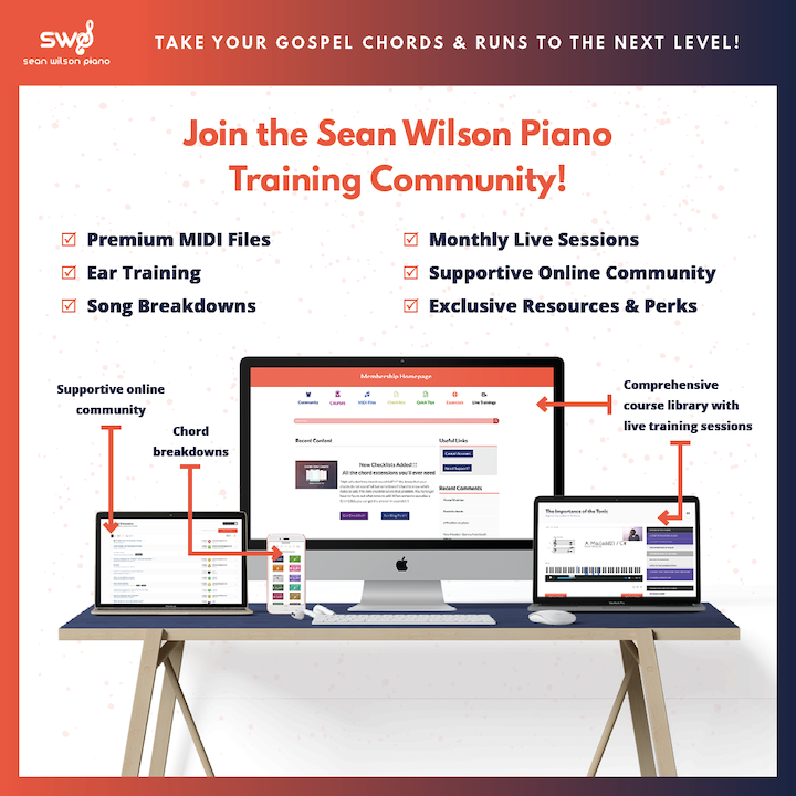 Learn Gospel Chords on the Piano By Ear – Sean Wilson